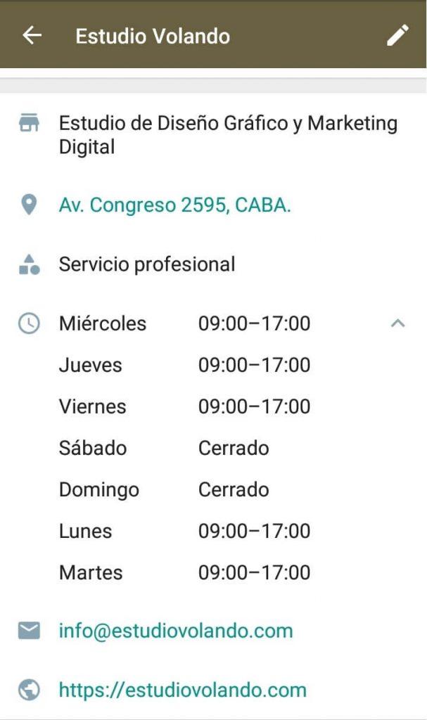 Captura de pantalla de WhatsApp Business